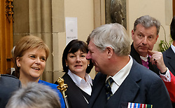 Pictured: The First Minister made friends as she attended the first day of the 2018 General Assembly<br /> <br /> The 2018 General Assembly of the Church of Scotland begins.This year's annual gathering runs until Friday May 25<br /> <br /> Ger Harley   EEm 19 May 2018