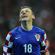 Croatia's Ivica OLIC celebrate his goal during their UEFA EURO 2012 Play-off for Final Tournament First leg soccer match Turkey betwen Croatia at TT Arena in Istanbul Nüovember11, 2011. Photo by TURKPIX