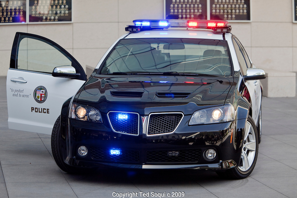 A prototype police car for the LAPD by Pontiac.