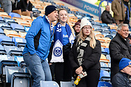 Portsmouth fans ahead of the EFL Sky Bet League 1 match between Portsmouth and Ipswich Town at Fratton Park, Portsmouth, England on 21 December 2019.