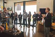 Tom Danowski briefing winemakers at Ponzi Vineyards