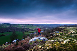 © Licensed to London News Pictures. 30/03/2020. Baildon UK. Dark clouds roll over Baildon Moor at sunrise this morning in Yorkshire as the UK continues the Coronavirus Lockdown. Photo credit: Andrew McCaren/LNP