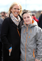 Easter Monday Ashbourne. Emer Maguire and her son Conor Maguire (13).  Picture; GERRY  MOONEY.  28/3/16