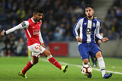 November 10, 2018 - Porto, Porto, Portugal - Porto's Brazilian defender Alex Telles (L) in action with Sporting Braga's Portuguese forward Ricardo Esgaio (L) during the Premier League 2018/19 match between FC Porto and SC Braga, at Dragao Stadium in Porto on November 9, 2018. (Credit Image: © Dpi/NurPhoto via ZUMA Press)