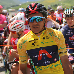 DISENTIS SEDRUM (SUI) CYCLING<br /> Tour de Suisse stage 5<br /> <br /> <br /> Richard Carapaz (Ecuador / Team Ineos)