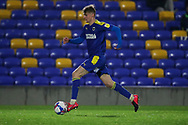 AFC Wimbledon midfielder Jack Rudoni (12) dribbling during the EFL Sky Bet League 1 match between AFC Wimbledon and Peterborough United at Plough Lane, London, United Kingdom on 2 December 2020.