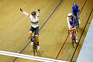 Women Omnium, Kirsten Wild (Netherlands) gold medal, Katie Archibald (Great Britain), Letizia Paternoster (Italy) during the Track Cycling European Championships Glasgow 2018, at Sir Chris Hoy Velodrome, in Glasgow, Great Britain, Day 5, on August 6, 2018 - Photo luca Bettini / BettiniPhoto / ProSportsImages / DPPI<br /> - Restriction / Netherlands out, Belgium out, Spain out, Italy out -