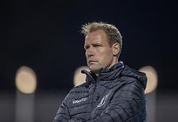 Cheftræner Morten Eskesen (FC Helsingør) under kampen i 1. Division mellem FC Helsingør og Silkeborg IF den 11. september 2020 på Helsingør Stadion (Foto: Claus Birch).