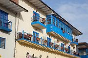 Wood Balcony, Cusco, Urubamba Province, Peru