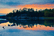 MIddle Lake reflection at dusk<br />