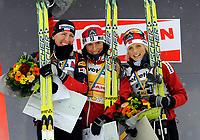 Justyna Kowalczyk (POL), Marit Bjoergen (NOR) und Therese Johaug (NOR). (Werner Schaerer/EQ Images)