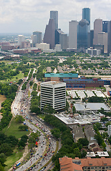 Stock photo of the aerial view of the 25th Annual Houston Art Car Parade