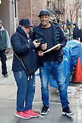 February 29, 2016 - New York City, NY, USA - <br /> <br /> Actor Will Smith was on the set of the new movie 'Collateral Beauty' on February 29 2016 in New York City <br /> ©Exclusivepix Media