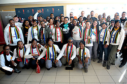 Trek4Mandela campaign is an initiative that aims to raise awareness and funds to address the lack of sanitary pads and feminine wellness in disadvantaged South African communities, Graca Machel was part of the send-off for the 40 people who are going to summit kilamanjaro at Tanzania<br /> Picture:Nokuthula Mbatha/African News Agency/ANA