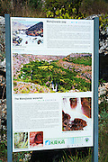 Interpretive sign at Manojlovac Falls, Krka National Park, Dalmatia, Croatia