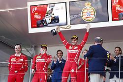 May 28, 2017 - Monte Carlo, Monaco - Motorsports: FIA Formula One World Championship 2017, Grand Prix of Monaco, .Riccardo Adami (ITA, Scuderia Ferrari), #7 Kimi Raikkonen (FIN, Scuderia Ferrari), #5 Sebastian Vettel (GER, Scuderia Ferrari), Prince Albert II of Monaco  (Credit Image: © Hoch Zwei via ZUMA Wire)