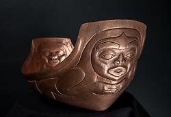 copper sculptures by Brian Walker, Yukon artist, Whitehorse, 2015