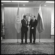 Rosen Plevneliev, the President of Bulgaria, with United Nations Secretary General Ban Ki moon.