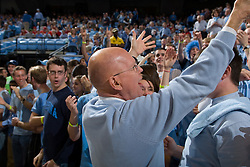 12 January 2008: North Carolina Tar Heels chancellor James Moeser with fans before a Tar Heel 62-93 win over the North Carolina State Wolfpack at the Dean Smith Center in Chapel Hill, NC.