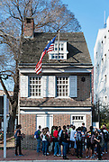 Home of Betsy Ross, maker of the first American Flag, Betsy Ross House, National Shrine ,239 Arch St. , Philadelphia, Pennsylvania, USA