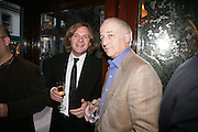 James turner and John Hosinger, PJ's Annual Polo Party . Annual Pre-Polo party that celebrates the start of the 2007 Polo season.  PJ's Bar & Grill, 52 Fulham Road, London, SW3. 14 May 2007. <br />