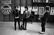 U2 - Larry Mullen, Bono, Adam Clayton and The Edge - downtown Chicago USA tour - 1981