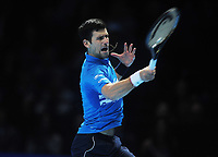 Tennis - 2019 Nitto ATP Finals at The O2 - Day Three<br /> <br /> Singles Group Bjorn Borg: Novak Djokovic (Serbia) vs.Domininic Thiem (Austria)<br /> <br /> Novak Djokovic<br /> <br /> COLORSPORT/ANDREW COWIE