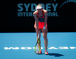 January 8, 2019 - Sidney, AUSTRALIA - Ekaterina Alexandrova of Russia in action during her first-round match at the 2019 Sydney International WTA Premier tennis tournament (Credit Image: © AFP7 via ZUMA Wire)
