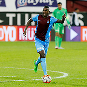 Trabzonspor's Douglas during their Turkish Super League match Trabzonspor between Gaziantepspor at the Avni Aker Stadium at Trabzon Turkey on Wednesday, 28 October 2015. Photo by Aykut AKICI/TURKPIX