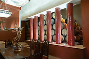 The barrel room inside the Casa Siete Leguas, El Centenario tequila distillery in Atotonilco de Alto, Jalisco, Mexico. The Seven Leagues tequila distillery is the oldest family owned distillery producing authentic handcrafted tequila using traditional methods.