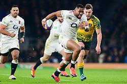 Joe Cokanasiga of England breaks away - Mandatory by-line: Dougie Allward/JMP - 24/11/2018 - RUGBY - Twickenham Stadium - London, England - England v Australia - Quilter Internationals