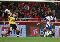 LISBOA 17 OCTOBER  2004: (L to R) MOREIRA #1 and MANICHE #18, in the, 6¼ leg of the Super Liga, season 2004/2005, match SL Benfica v  FC Porto, held in Luz stadium, 17/10/2004  19:45<br />(PHOTO BY: NUNO ALEGRIA / AFCD)