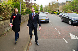 Pictured: After the launch Kezia Dugdale and Daniel Johnston pounded the pavement of Nile Grove to doorstep supporters.<br /> <br /> Scottish Labour's Ian Murray and Scottish Labour leader Kezia Dugdale hit the general election campaign trail in Edinburgh today for the first campaign event of Mr Murray's re-election campaign for the Edinburgh South constituency.<br /> Ger Harley   EEm 21 April 2017