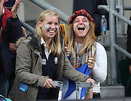 Scottish fans celebrate after scoring another try to take the score Aus 25 - Scot 24 during the Rugby World Cup Quarter Final match between Australia and Scotland at Twickenham, Richmond, United Kingdom on 18 October 2015. Photo by Matthew Redman.