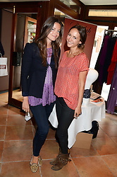 Left to right, LADY NATASHA RUFUS ISAACS and LAVINIA BRENNAN at the Glamorous Girls Summer Sale and Park Walk Street Party, Park Walk, London SW10 on 27th June 2013.