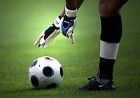 GEPA-1106081282 - GENF,SCHWEIZ,11.JUN.08 - FUSSBALL - UEFA Europameisterschaft, EURO 2008, Tschechien vs Portugal, CZE vs POR. Bild zeigt ein Feature mit einem Fussball.<br />Foto: GEPA pictures/ Walter Luger