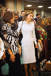 Jordan's Queen Rania Al Abdullah arrives to the Parliament as King Abdullah II delivers a speech for the inauguration or the third ordinary session of the 18th Parliament, in Amman, Jordan, on October 14, 2018. Photo by Balkis Press/ABACAPRESS.COM