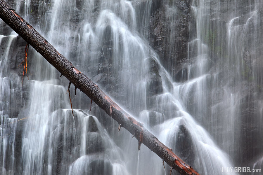 Crabtree Falls is a waterfall located near the boundary of McDowell County and Yancey County, North Carolina.