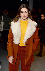 Sai Bennett on the front row during the Alex Mullins London Fashion Week Men's AW18 show held at BFC Show Space, London.
