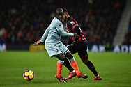 Chelsea Midfielder, N'Golo Kante (7) tackles AFC Bournemouth Forward, Josh King (17) during the Premier League match between Bournemouth and Chelsea at the Vitality Stadium, Bournemouth, England on 30 January 2019.