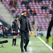 Akhisar Belediye Genclik ve Spor's headcoach Cihat Arslan during their Turkish Super League soccer match Galatasaray between Akhisar Belediye Genclik ve Spor at the AliSamiYen Spor Kompleksi TT Arena at Seyrantepe in Istanbul Turkey on Sunday, 20 December 2015. Photo by Aykut AKICI/TURKPIX