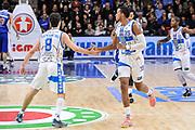 DESCRIZIONE : Campionato 2014/15 Serie A Beko Dinamo Banco di Sardegna Sassari - Acqua Vitasnella Cantu'<br /> GIOCATORE : Giacomo Devecchi Kenneth Kadji<br /> CATEGORIA : Fair Play<br /> SQUADRA : Dinamo Banco di Sardegna Sassari<br /> EVENTO : LegaBasket Serie A Beko 2014/2015<br /> GARA : Dinamo Banco di Sardegna Sassari - Acqua Vitasnella Cantu'<br /> DATA : 28/02/2015<br /> SPORT : Pallacanestro <br /> AUTORE : Agenzia Ciamillo-Castoria/L.Canu<br /> Galleria : LegaBasket Serie A Beko 2014/2015