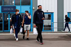 Chris Vui as Bristol Bears board the plane to Marseille ahead of their Challenge Cup Final in France - Rogan/JMP - 15/10/2020 - RUGBY UNION - Bristol Airport - Bristol, England - Toulon v Bristol Bears - European Rugby Challenge Cup Final.