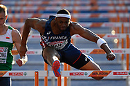 Aurel Manga (FRA) competes in 110m Hurdles Men during the European Championships 2018, at Olympic Stadium in Berlin, Germany, Day 4, on August 10, 2018 - Photo Photo Julien Crosnier / KMSP / ProSportsImages / DPPI