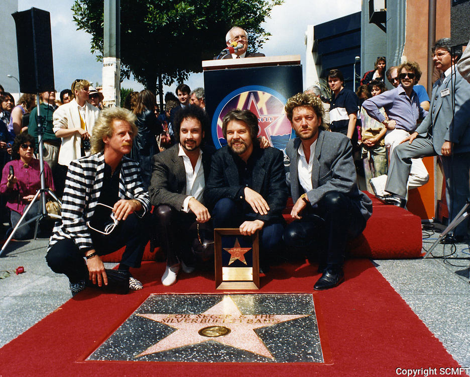 1987 Bob Seger and the Silver Bullet Band's Walk of Fame ceremony