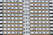 Two blocks of council flats in Islington, North London.