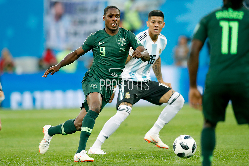 Nigeria forwarder Odion Ighalo during the 2018 FIFA World Cup Russia, Group D football match between Nigeria and Argentina on June 26, 2018 at Saint Petersburg Stadium in Saint Petersburg, Russia - Photo Stanley Gontha / Pro Shots / ProSportsImages / DPPI