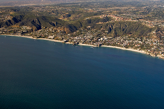 View of the South Laguna Beach coastline from the air looking north/northeast.
