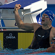 Liam Tancock of Great Britain winning the Men's 50m Backstroke at the World Swimming Championships in Rome, Italy on Sunday, August 2, 2009. Photo Tim Clayton