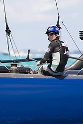 June 21, 2017 - Bermudes, USA - The Great Sound, Bermuda, 20th June 2017, Red Bull Youth America's Cup Finals. Race three, NZL Sailing Team.helmsman Logan Dunning Beck. (Credit Image: © Panoramic via ZUMA Press)